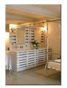 Мебель из поддонов в ванную